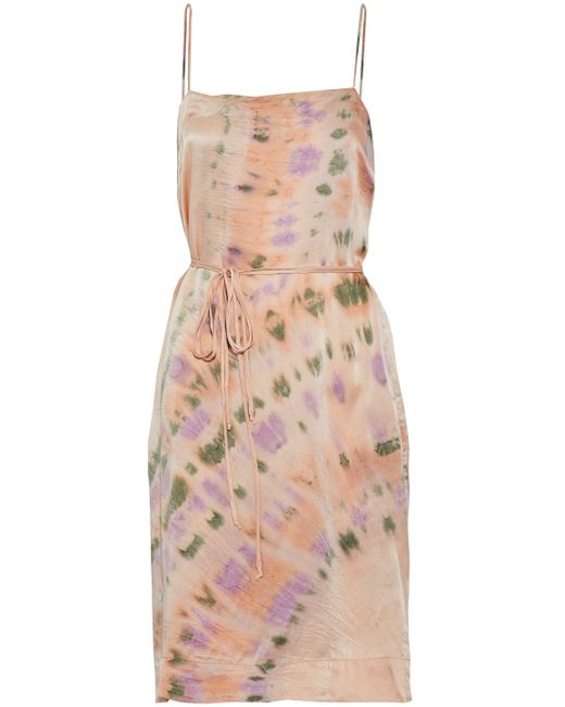 Raquel Allegra - Multicolor Tie-dyed Crinkled-silk Dress - Lyst