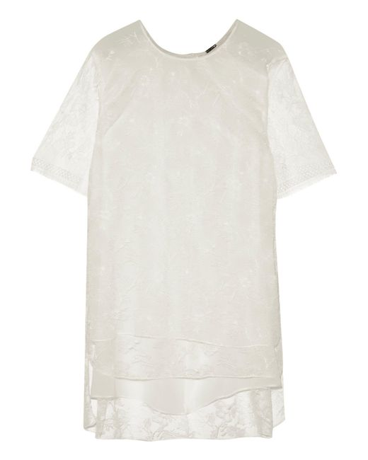 Adam Lippes - White Chantilly Lace Top - Lyst