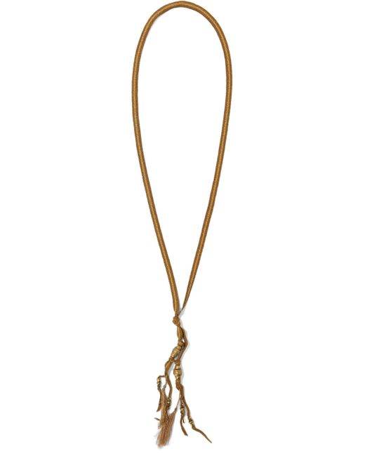 Chan Luu - Brown Tasseled Cord And Bead Necklace - Lyst