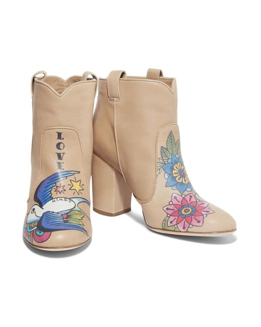 ... Laurence Dacade | Natural Pete Printed Leather Ankle Boots | Lyst ...