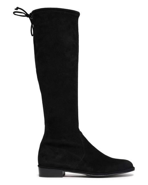 Stuart Weitzman - Black Bow-detailed Suede Boots - Lyst