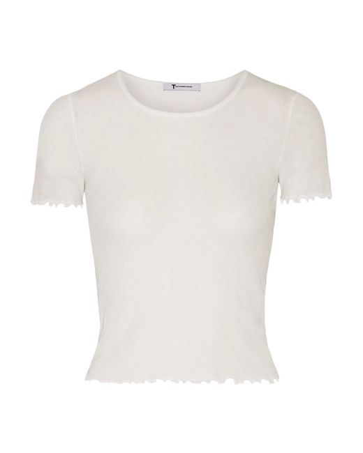 T By Alexander Wang | White Cotton-jersey Top | Lyst