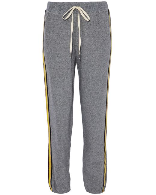 Splendid - Gray Cotton-blend Terry Track Pants - Lyst