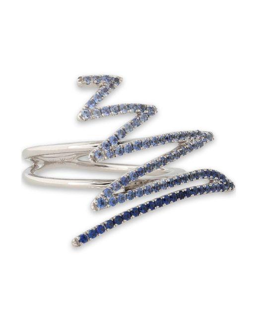 Khai Khai - Blue 18-karat Gold Crystal Ring - Lyst