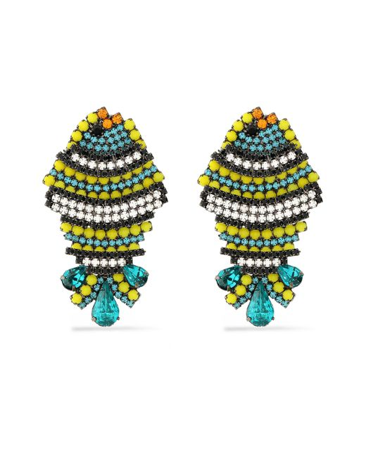 Elizabeth Cole - Multicolor Bead, Crystal And Silver-tone Earrings - Lyst