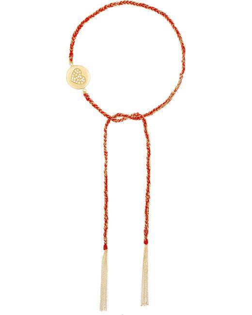 Carolina Bucci - Red Love Lucky 18-karat Gold Diamond Bracelet - Lyst
