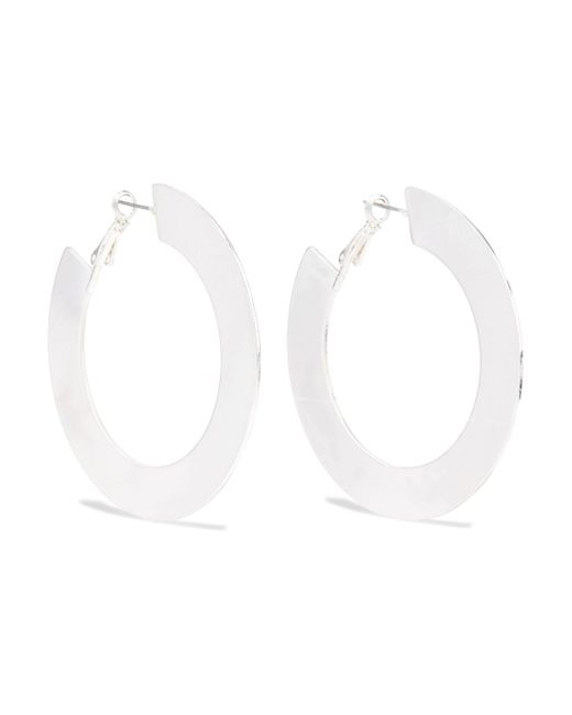 Kenneth Jay Lane - Metallic Silver-tone Hoop Earrings - Lyst