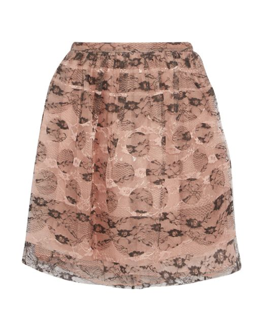RED Valentino - Multicolor Layered Lace And Silk-organza Mini Skirt - Lyst