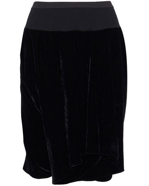 Rick Owens - Black Layered Velvet Shorts - Lyst