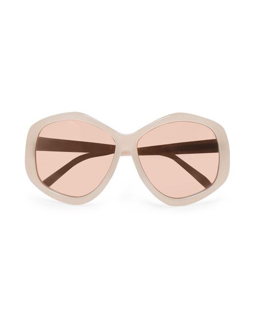 Linda Farrow - Multicolor Round-frame Acetate Mirrored Sunglasses - Lyst