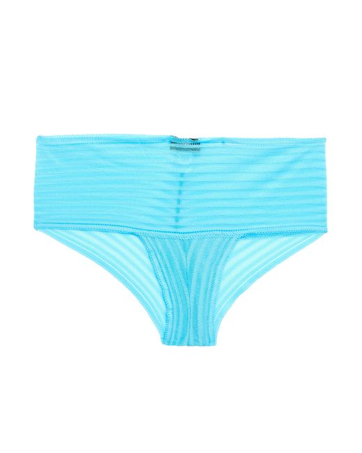 Cosabella - Woman Sweet Treats Stretch-lace Mid-rise Briefs Sky Blue - Lyst