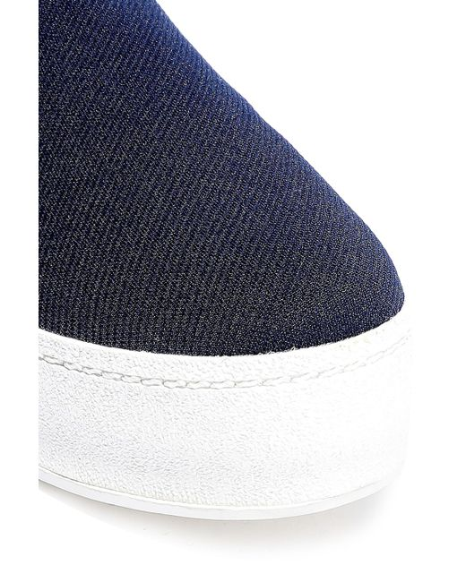 8046f4c16204 ... Opening Ceremony - Blue Woman Cici Twill Platform Slip-on Sneakers Navy  - Lyst