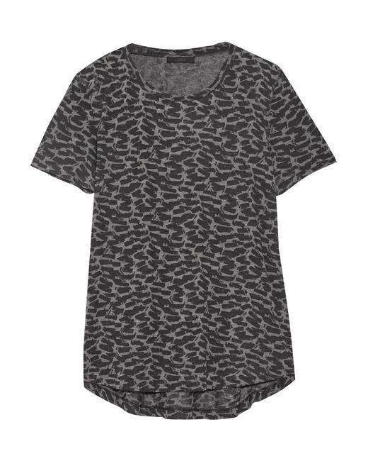 Belstaff | Gray Posy Printed Stretch-jersey T-shirt | Lyst