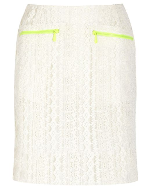 Preen Line - White Ines Embroidered Tulle Skirt - Lyst