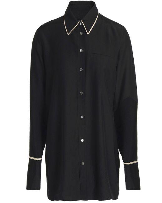 J Brand - Black Blake Oversized Satin Shirt - Lyst