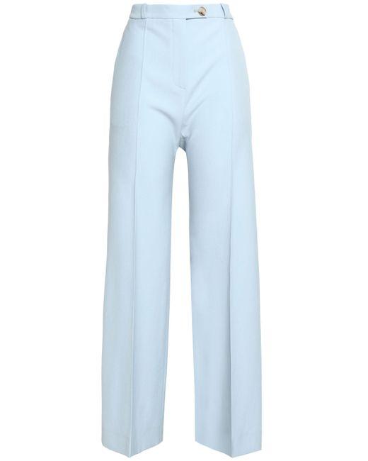 AlexaChung - Blue Wool-twill Bootcut Pants - Lyst