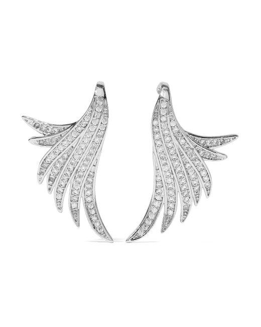 CZ by Kenneth Jay Lane - Metallic Woman Silver-tone Crystal Earrings Silver - Lyst