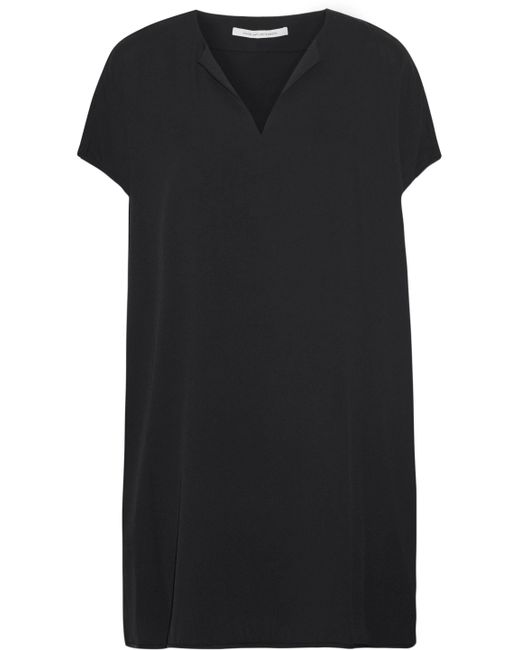 Diane von Furstenberg - Black Kora Silk-blend Mini Dress - Lyst