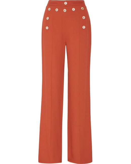 Derek Lam - Red High-waisted Flare Pant - Lyst