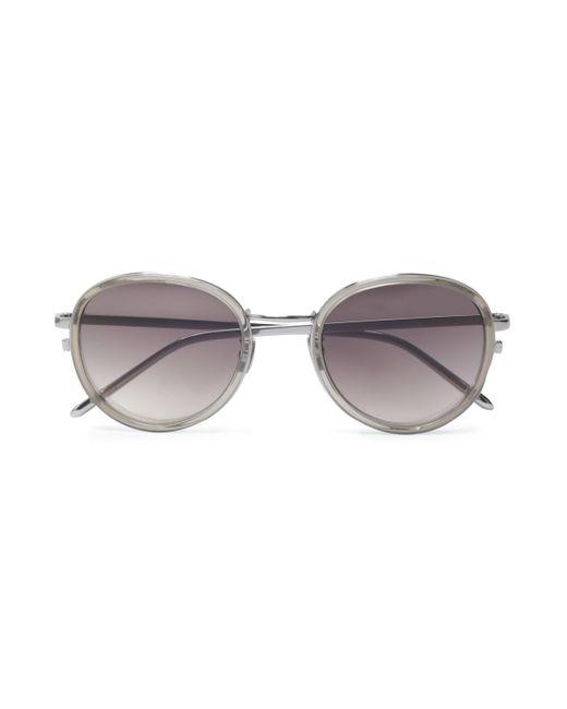 cd1e691737b Lyst - Linda Farrow Woman Round-frame Acetate Sunglasses Gray in Gray