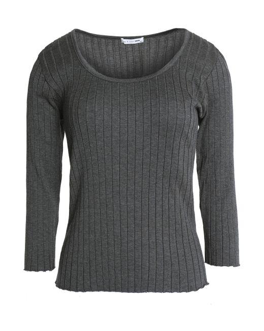 Rag & Bone - Gray Cotton-jersey Top - Lyst