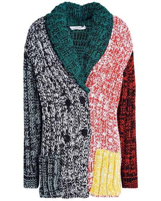 Sonia Rykiel - Multicolor Marled Color-block Knitted Cardigan - Lyst