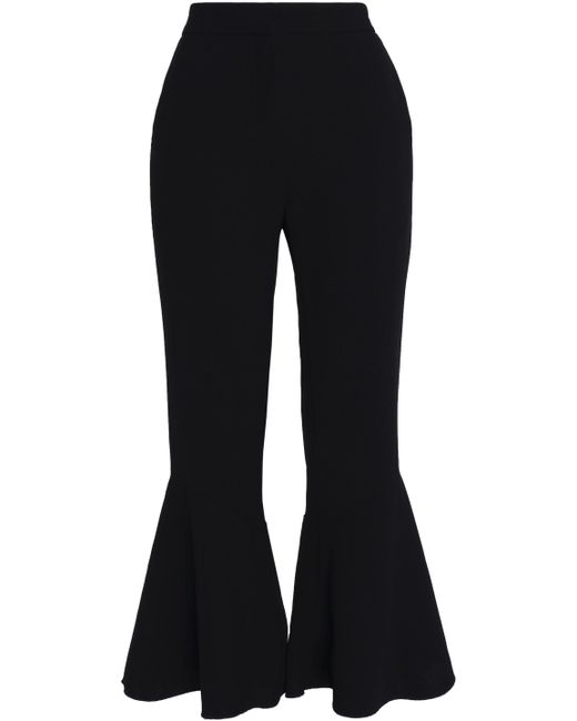 Sandro - Black Cropped Ponte Flared Pants - Lyst