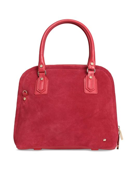 Halston Heritage - Red Woman Suede Tote Crimson Size -- - Lyst