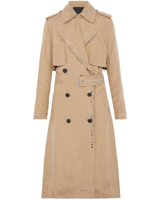 Alexander Wang - Natural Long Trench Coat - Lyst