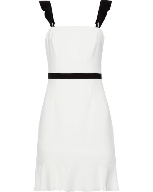 6a61a4e3a9e Rachel Zoe - Woman Michele Ruffle-trimmed Crepe Mini Dress White - Lyst ...