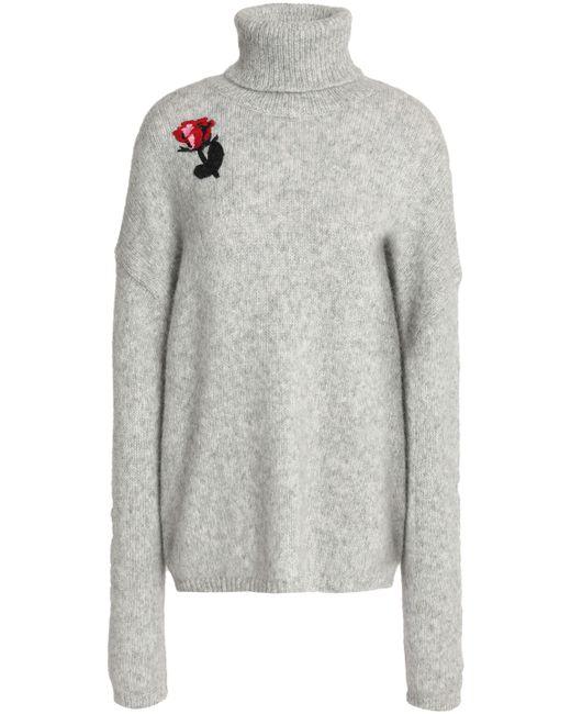 Markus Lupfer - Embellished Alpaca-blend Turtleneck Sweater Light Gray - Lyst