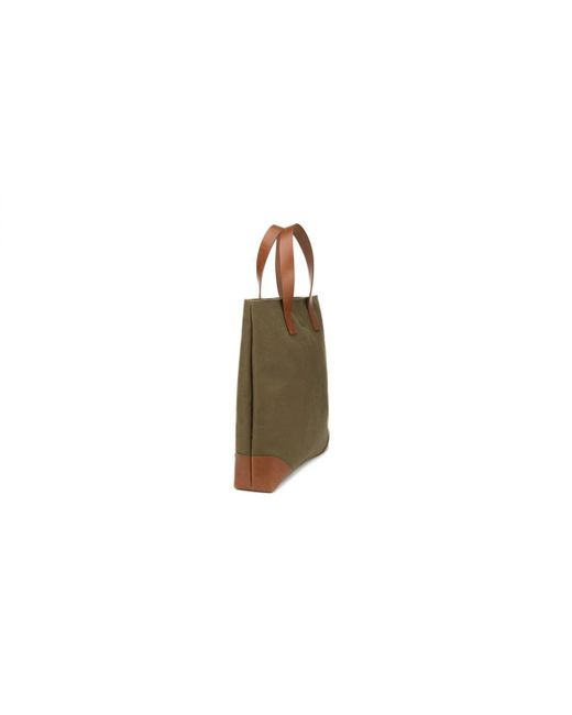a07cd23a4c64 ... Bennett Winch - Green Olive Canvas And Leather Tote Bag for Men - Lyst  ...