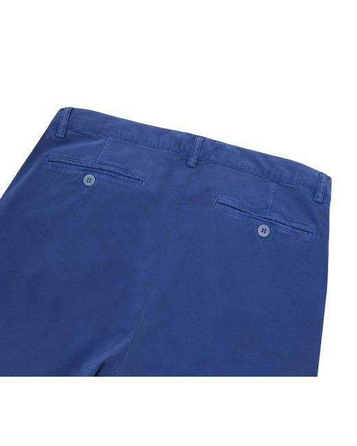 Mid Blue Cotton And Wool Shorts Anderson & Sheppard Cheapest Price Cheap Price Cheap Price Factory Outlet Outlet 100% Original t1gnq