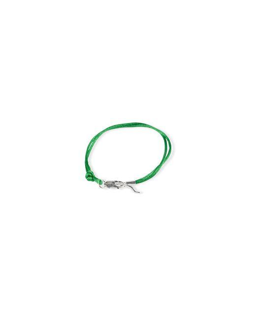 Rubinacci - Green And Silver Pendant Silk Bracelet for Men - Lyst