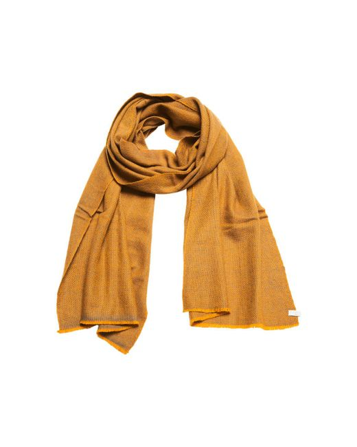 Anderson & Sheppard - Metallic Gold And Grey Birdseye Weave Cashmere Scarf - Lyst