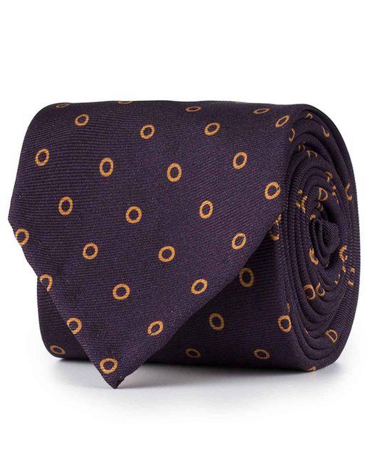 Rubinacci - Purple And Yellow Circle Silk Tie for Men - Lyst