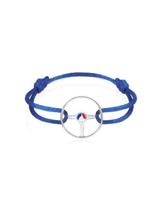 The Mechanists - Metallic Sterling Silver On Blue Cord 24h Le Mans Steering Wheel Bracelet for Men - Lyst