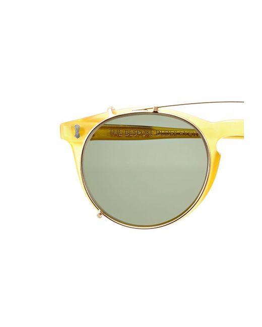 c219dae335 ... The Bespoke Dudes Eyewear - Metallic Clip Gold Metal Bottle Green Lens  Sunglasses Frames for Men