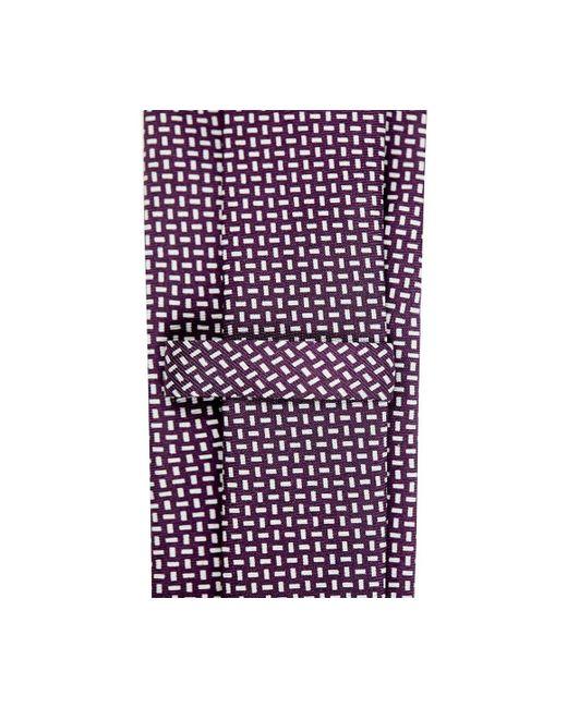 Carré Violet Et Blanc Et La Tache De Soie Cravate Rubinacci BDGTA3