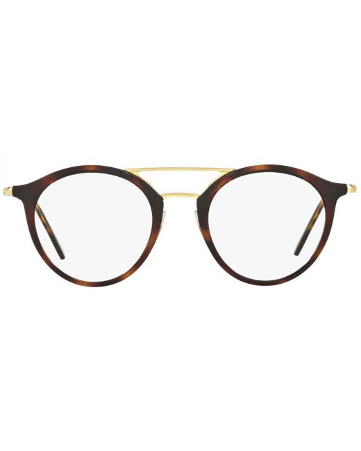 5166191ff77e Ray-Ban - Brown And Gold Double Bridge Frames With Clear Lenses Eyewear  Rx7097 2012 ...