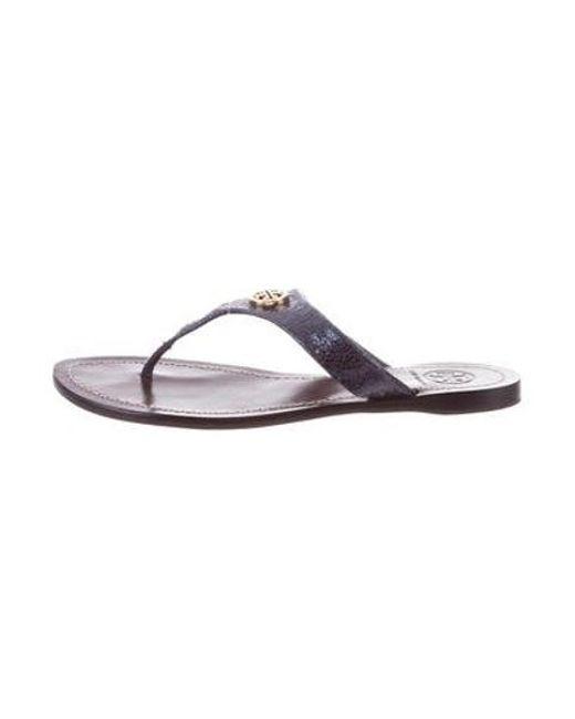 1f8a5e3e2aafd Tory Burch - Metallic Reva Sandals - Lyst ...