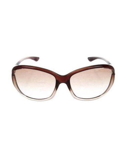 7066ada6dbb5 Tom Ford - Metallic Jennifer Oval Sunglasses Brown - Lyst ...
