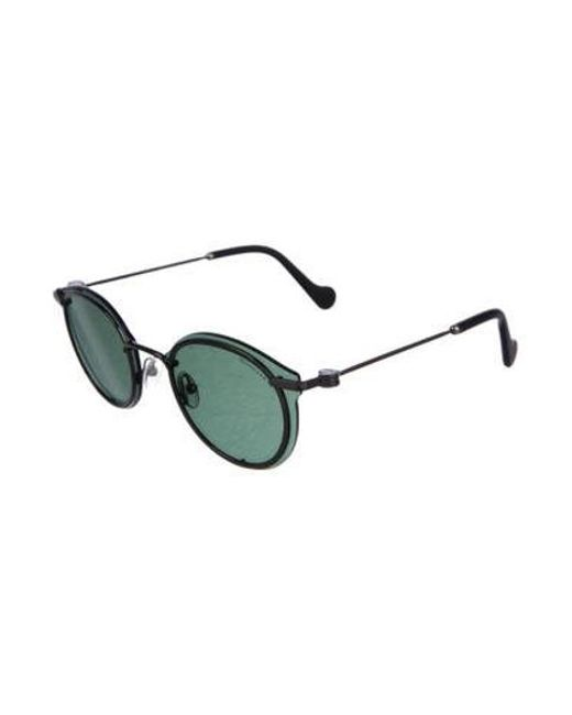 cb0cac8f8d0 ... Moncler - Gray Round Tinted Sunglasses for Men - Lyst ...
