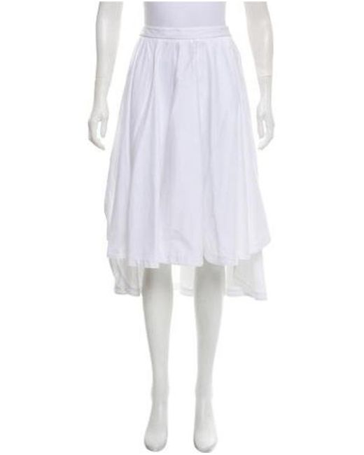 38a12fd856 Robert Rodriguez - White High-low Midi Skirt - Lyst ...