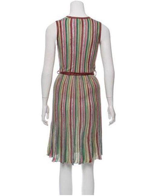 5b7b1d9b14 ... M Missoni - Knitted Sleeveless Dress Multicolor - Lyst
