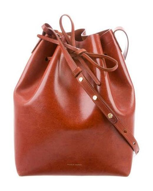 Mansur Gavriel - Brown Leather Bucket Bag Gold - Lyst