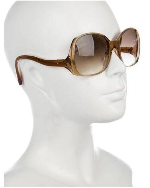 0235929eee04 ... Louis Vuitton - Natural Gina Glitter Sunglasses Beige - Lyst