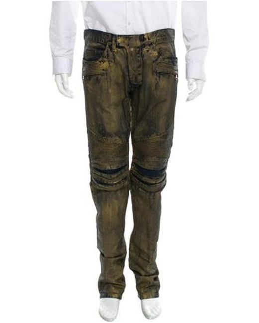 Balmain - Blue 2016 Biker Jeans W/ Tags for Men - Lyst