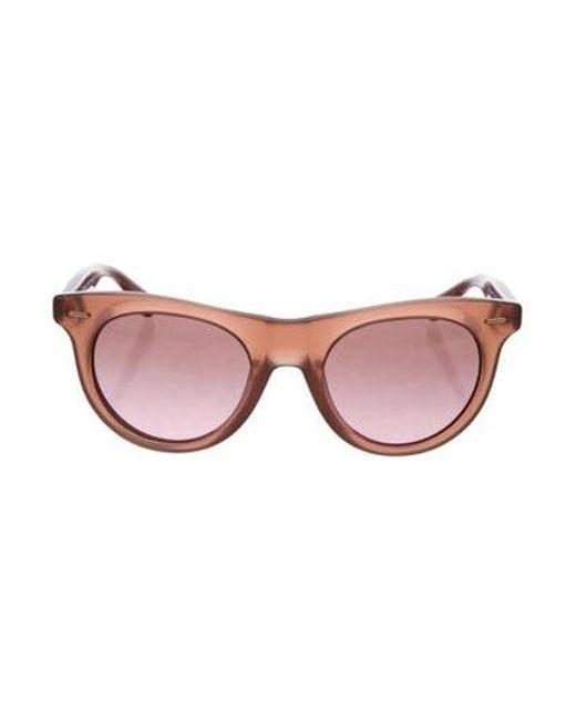 be3ee4553d Michael Kors - Brown Logo Tinted Sunglasses - Lyst ...
