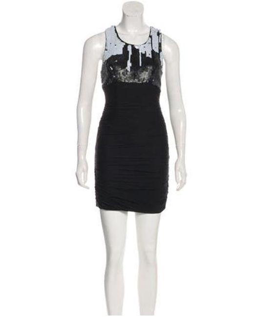 Lyst Alice Olivia Mini Sleeveless Dress In Black